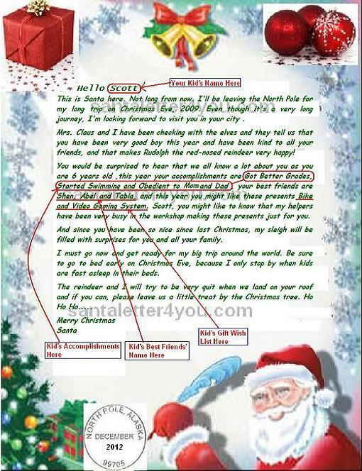 Email Letter From Santa image. Free Letter from Santa